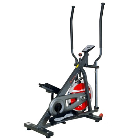 Sunny Health & Fitness SF-E2310 44lb Chain Drive Flywheel Elliptical Trainer Elliptical Machine w/ LCD Monitor