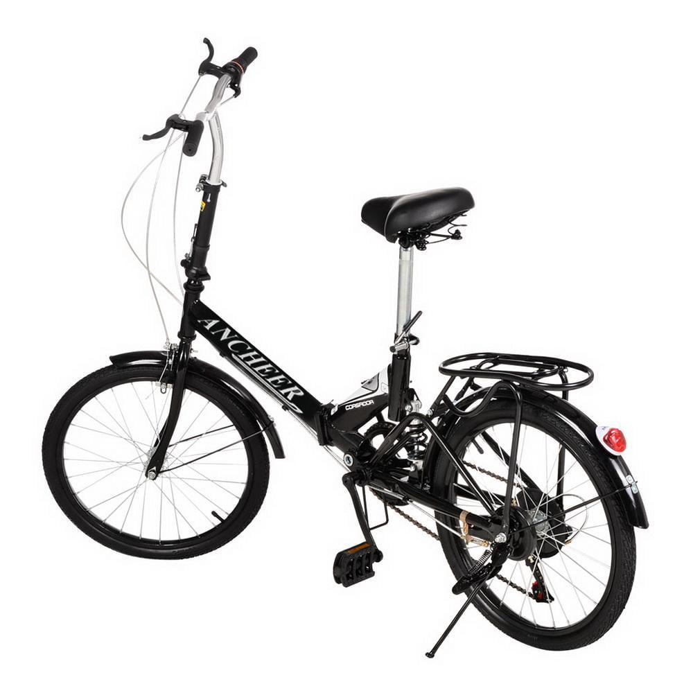 Elecmall 20'' Folding Bike 6 Speed Bicycle Storage Colleg...