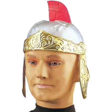Adult Gold Silver Roman Trojan Gladiator Costume Helmet