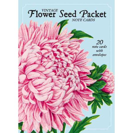 Vintage Flower Seed Package Note Cards: 20 Note Cards with Envelopes