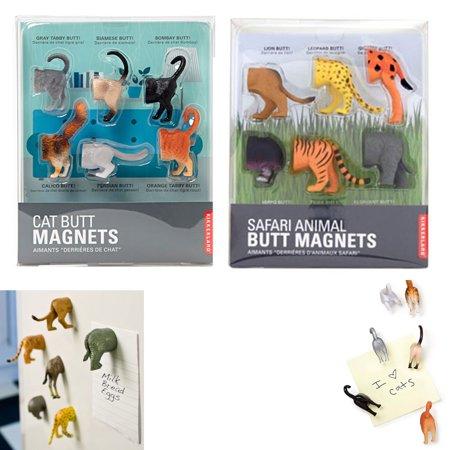 - 6 Kikkerland Animal Butt Magnets Fridge Strong Magnetic Surface Gift Novelty New