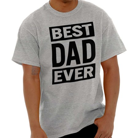 Brisco Brands Best Dad Ever Fathers Day Gift Mens Short Sleeve (Best Brands For Mens Formal Shirts)
