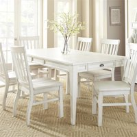 Cayla Antique White 7-Piece Dining Set with Antique White Chairs