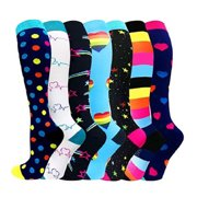 Everpert 7 Pairs Outdoor Sports Compression Socks Warm Leisure Riding Stockings Set