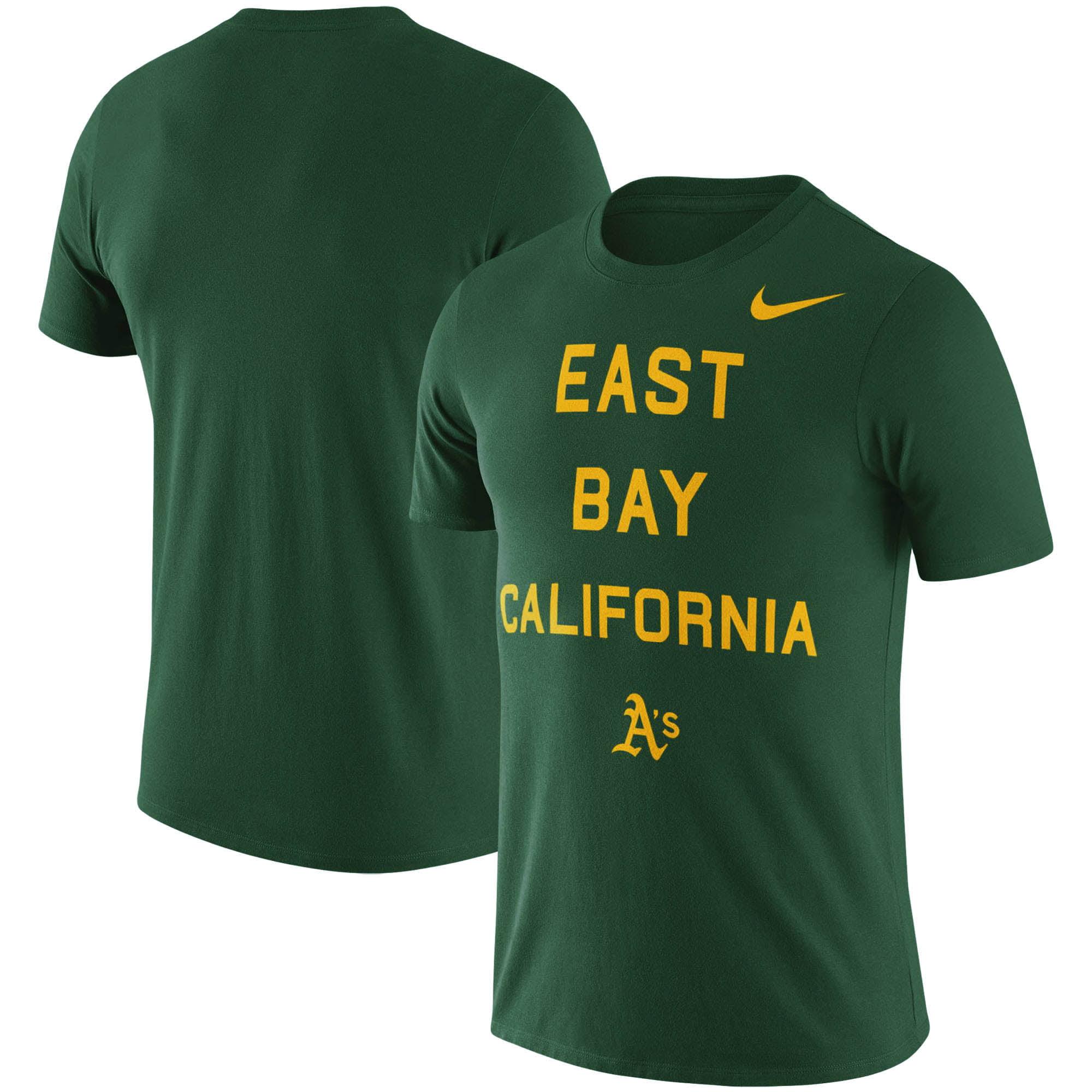 Oakland Athletics Nike MLB East Bay Local Phrase T-Shirt - Green