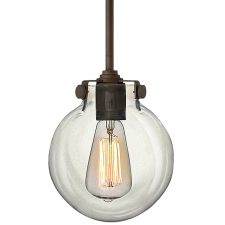 Congress 1-Light Mini Pendant in Oil Rubbed Bronze w/ Clear Glass