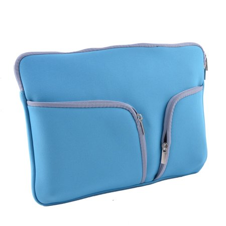 13 Inch PC Polyester Rectangle Shaped Zipper Universal Tablet Sleeve Bag Blue - image 1 of 3