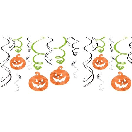 Family Friendly Halloween Pumpkins & Ghosts Foil Swirls
