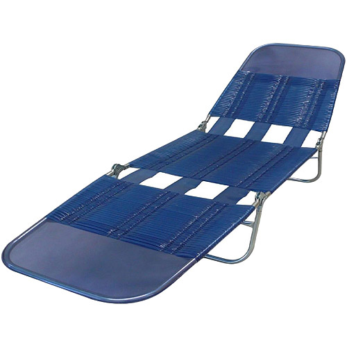 Mainstays PVC Lounge Chair, Blue Streak   Walmart.com