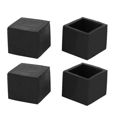 25mmx25mm square chair leg floor protectors table feet. Black Bedroom Furniture Sets. Home Design Ideas
