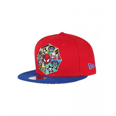 New Era 9Fifty Tokidoki Spidey Web Red Blue Adjustable Flat Bill Snapback  Hat Cap - Walmart.com 16730c9d615a