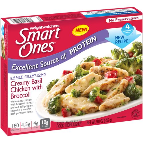 Weight Watchers Smart Ones Smart Creations Creamy Basil Chicken with Broccoli, 9 oz