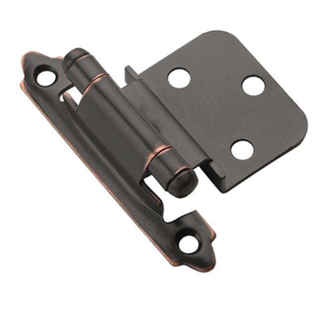 A07128 ORB Amerock Decorative 0.38 in. Inset Self Closing Cabinet Door Hinge, Oil Rubbed Bronze