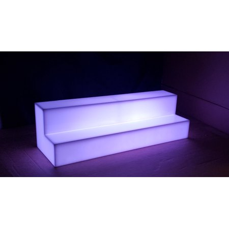 Banquet Tables Pro 2 Step Tiered LED Liquor Bottle Shelf-30