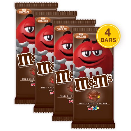 (4 pack) M&M'S Minis, Milk Chocolate Candy Bar, 4 (Mini Milk Chocolate Bottle)