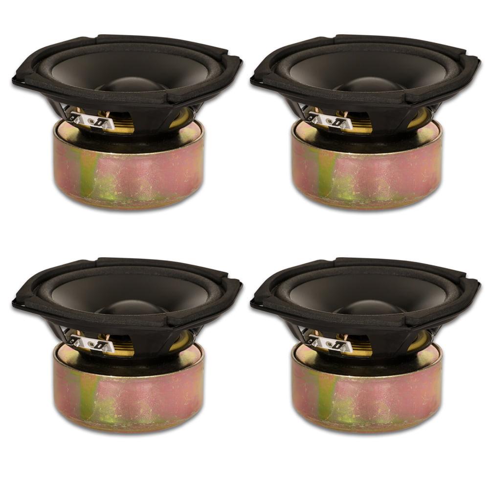 "4 Goldwood Sound GW-205/4S Shielded 5.25"" Woofers 130 Watt each 4ohm Replacement Speakers"