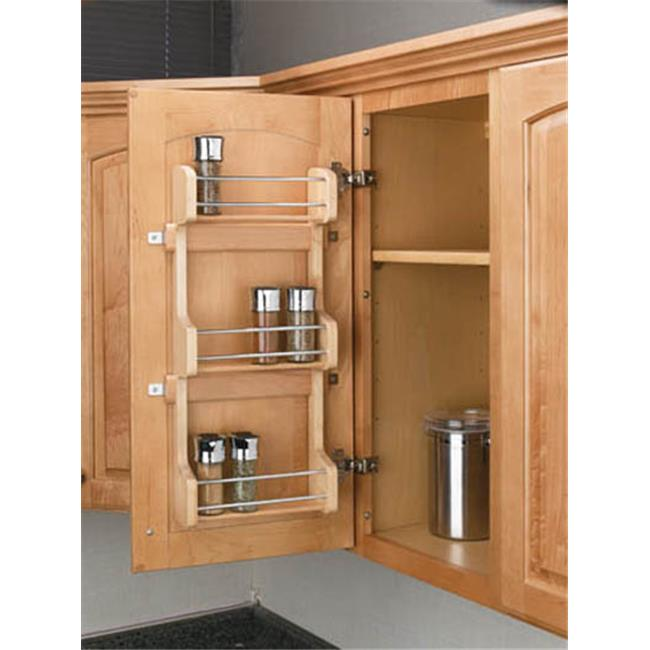 HD RS4SR.15 Rev-A-Shelf Door Mount Spice Rack, 10.5 x 3.13 x 21.50 in. by