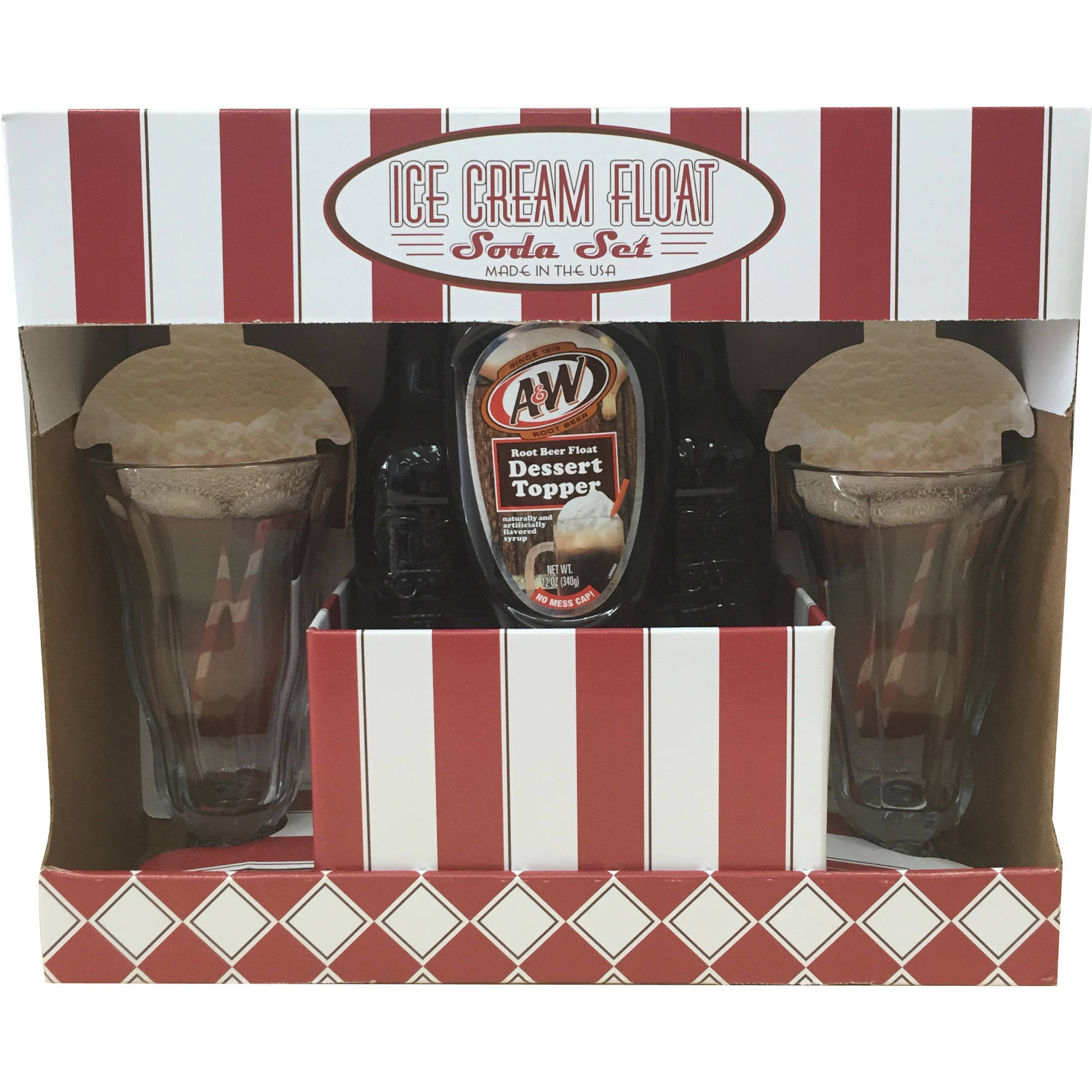 A&W Root Beer Ice Cream Float Soda Set, 4 pc