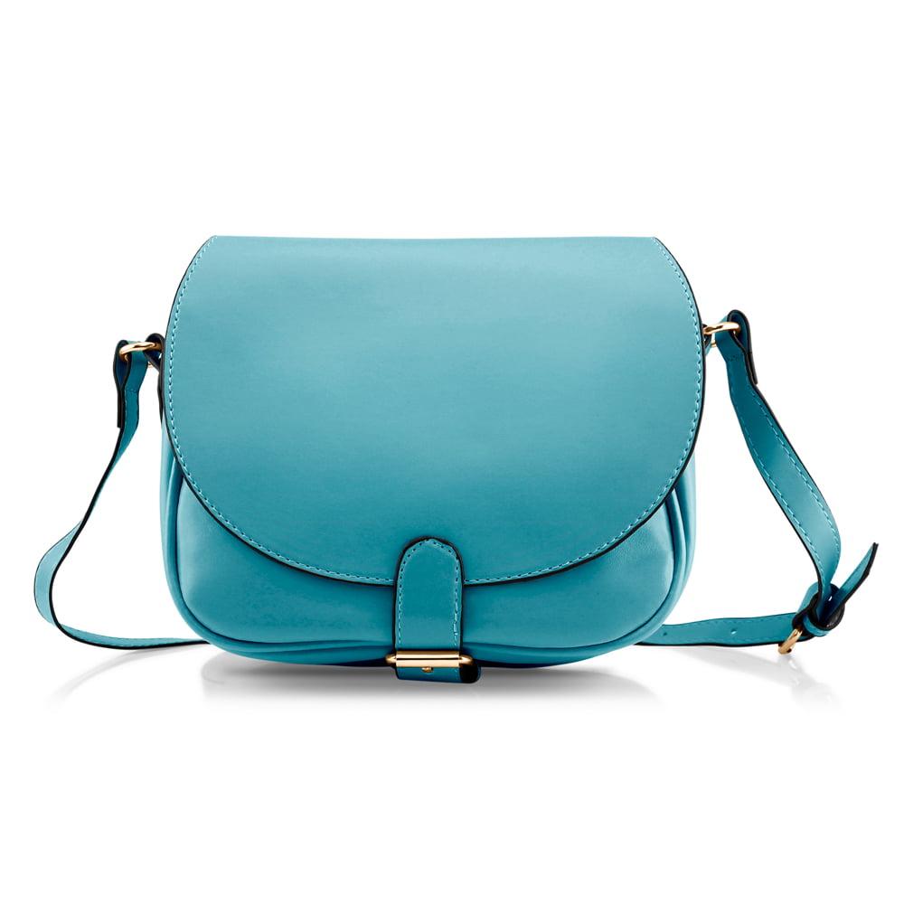 Fashion Women Crossbody Handbag PU Leather Shoulder Bag Tote Purse Ladies Satchel Messenger Hobo Bags - Blue
