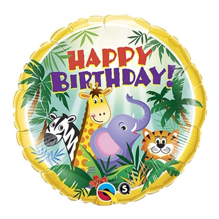 Jungle Friend Happy Birthday 18 inch Foil Balloon](Jungle Balloons)