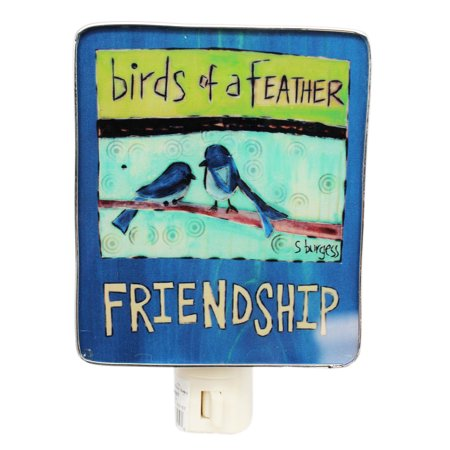 Peace Sign Night Light (Painted Peace Birds of a Feather/Friendship Custom Artwork Night Light - By)