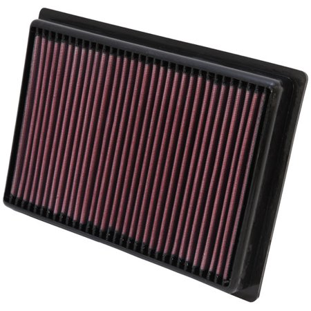 K & N Filters- Powersport PL-5712 Air Filter FilterCharger (R) Washable; Red; Cotton Gauze; Panel; 11-1/4 Inch Length x 8-3/16 Inch Width x 1-7/16 Inch Height - image 1 de 1