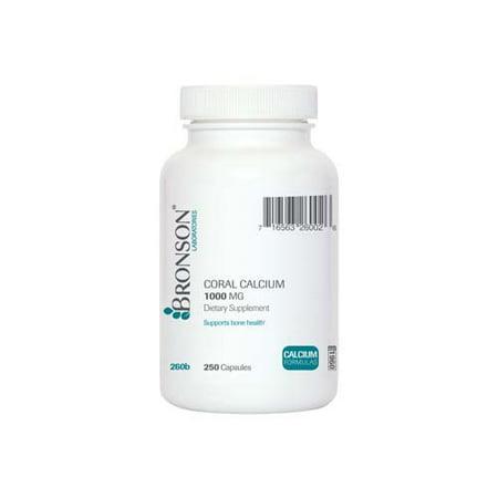 Bronson Coral calcium 1000 mg, 250 Capsules