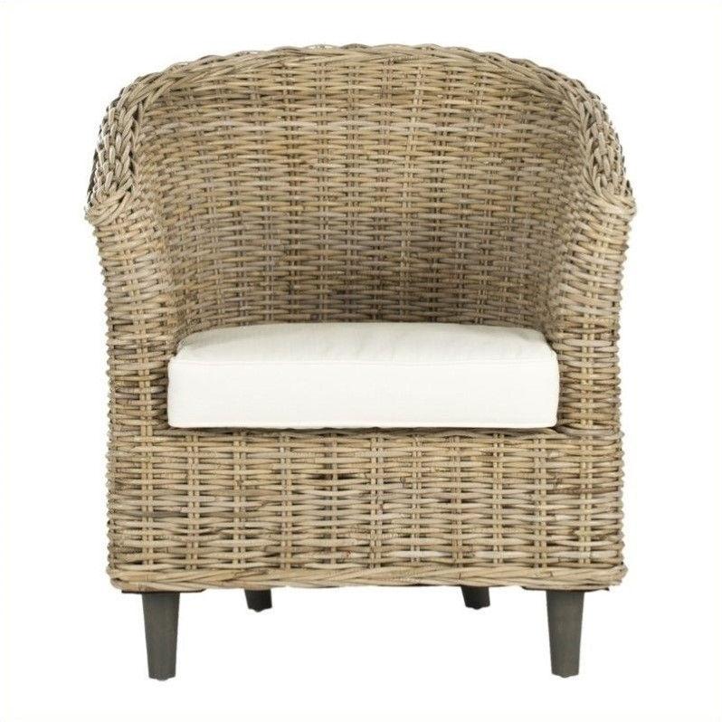 Safavieh Omni Wicker Barrel Chair In Natural Unfinished
