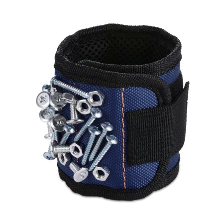 Moretek Magnetic Wristbands for Holding Tools, Screws, Nails, Bolts, Drill Bits and Small tools, Tool Gift for Thanksgiving; Christmas (Blue)