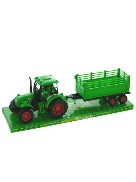 Friction Powered Farm Tractor Trailer Truck with Roller (Available in a pack of 4) by Kole Imports