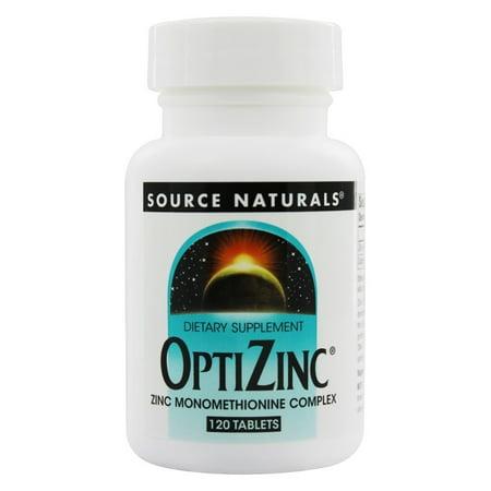 Source Naturals OptiZinc 30mg, 120 tablet