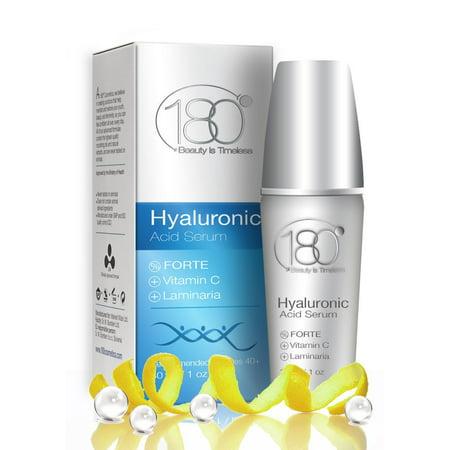 PREMIUM Acide Hyaluronique et de la vitamine C Sérum Forte par 180 Cosmetics - se débarrasser des rides du jour 1 pour 40 ans et plus, Super Strong Sérum Concentré Anti vieillissement Acide Hyaluronique 1 oz