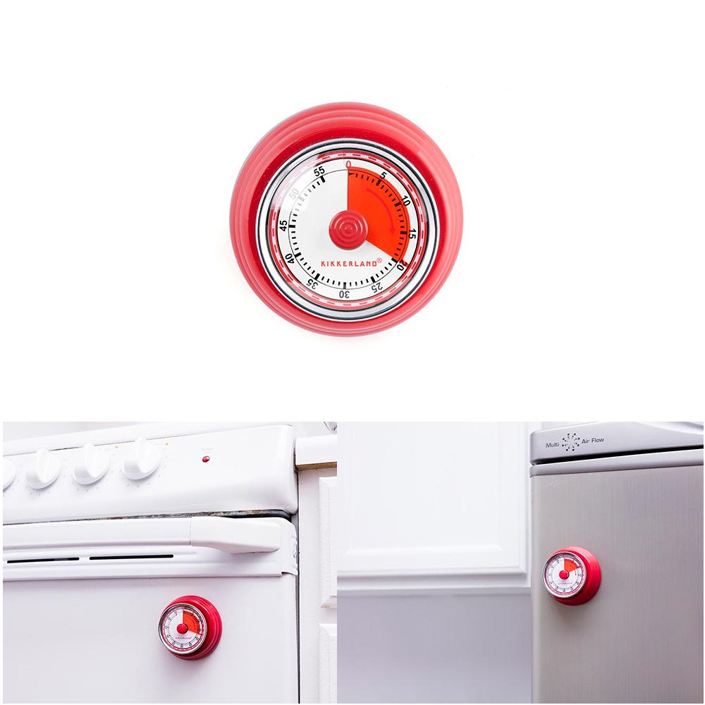1 Kikkerland Magnetic Kitchen Timer Rotary Cook 55 Min Cooking Alarm Count down