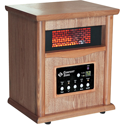 Wood Cabinet Quartz Heater with Remote