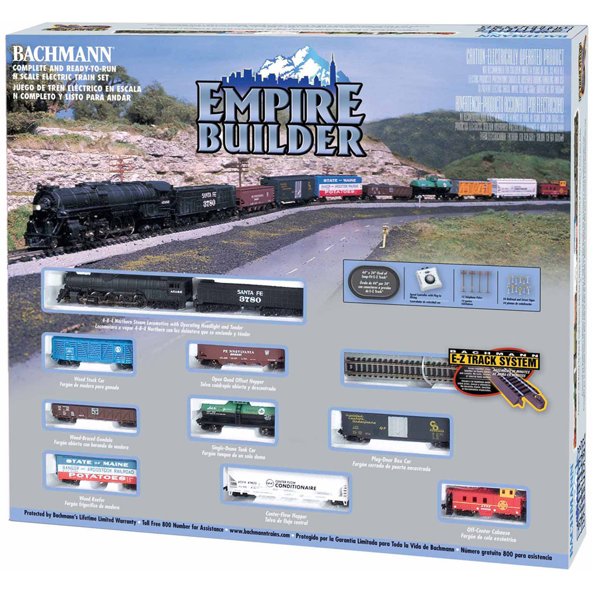 Bachmann Trains Empire Builder, N Scale Ready-to-Run Electric Train Set by Bachmann Industries, Inc.