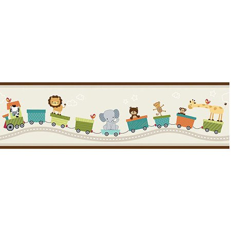 Lambs Ivy Bedtime Originals Animal Choo Express Wallpaper Border