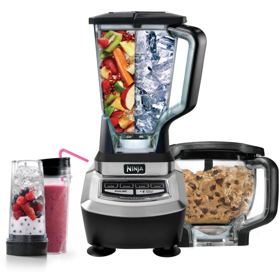 ninja supra kitchen blender system with food processor and. Black Bedroom Furniture Sets. Home Design Ideas