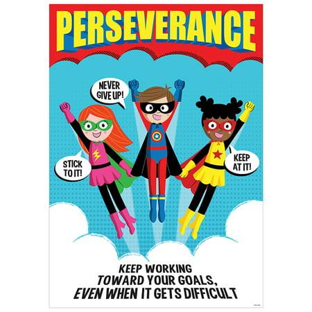 PERSEVERANCE SUPERHERO POSTER INSPIRE U - Vintage Superhero Posters
