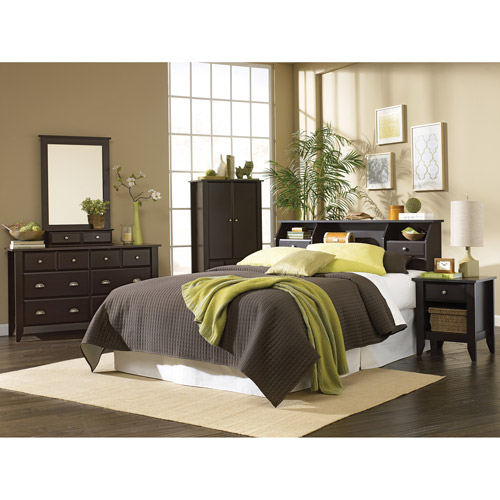 Sauder Shoal Creek 4-Piece Bedroom Set, Jamocha - Walmart.com