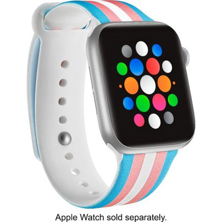 Modal™ - Active Silicone Band for Apple Watch® 42mm and 44mm - Transgender Flag Stripe