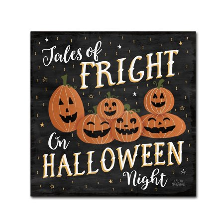 Trademark Fine Art 'Haunted Halloween VII' Canvas Art by Laura Marshall - Laura Halloween