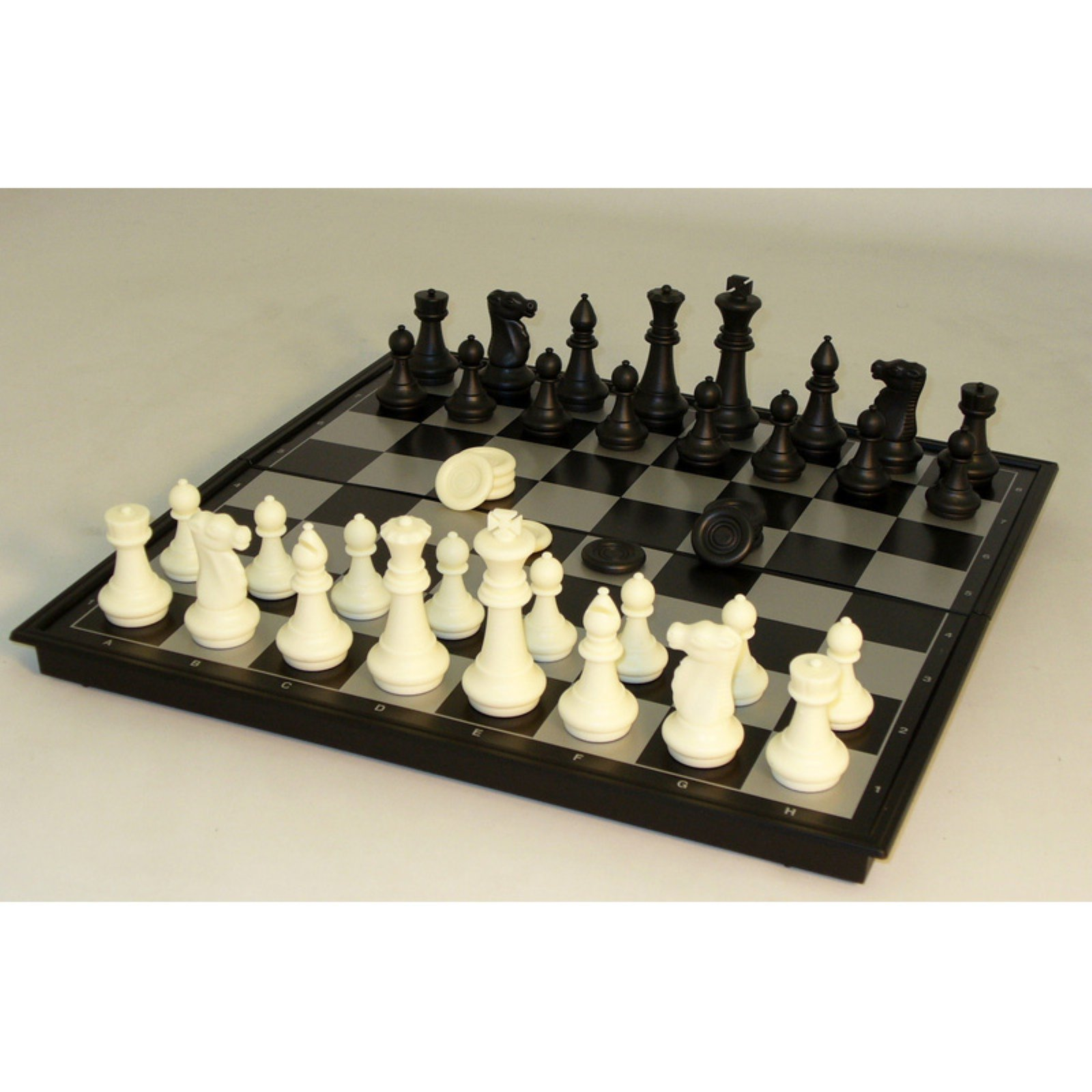 WorldWise 14 in. Magnetic Chess Set with Checkers