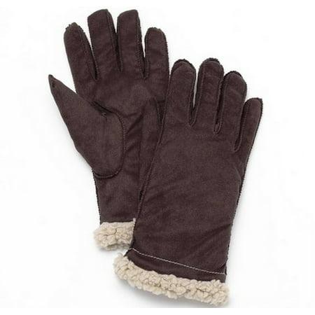 Grandoe Women's Suede Touchscreen Compatible Sensor Touch Brown Gloves - Medium Grandoe Lined Gloves