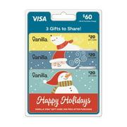 $60 (3 x $20) Vanilla Visa® Gift Card Holiday Multipack