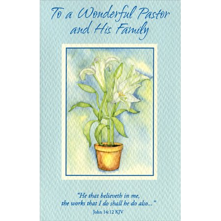 Freedom Greetings White Lilies in Flower Pot: Pastor Easter
