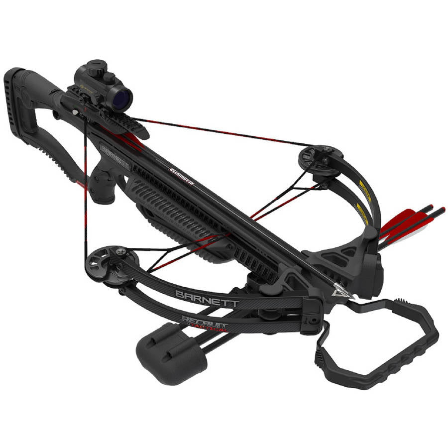 Click here to buy Barnett Recruit Tactical Compound Crossbow Package with 2 Bolts by Barnett.