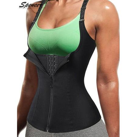 Spencer Women Sauna Body Shaper Waist Cincher Trainer Underbust Corset Shapewear Tummy Control Slimming Vest