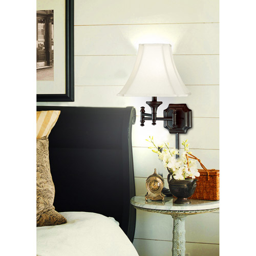 Kenroy Home Wentworth Wall Swing Arm Lamp, Burnished Bronze by Kenroy Home