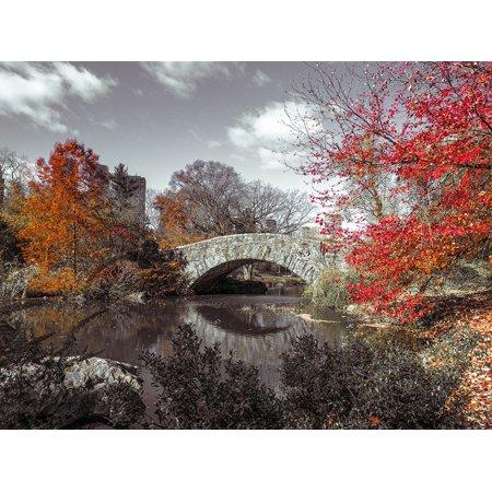 Gapstow Bridge In The Autumn Central Park New York Poster Print by Assaf Frank