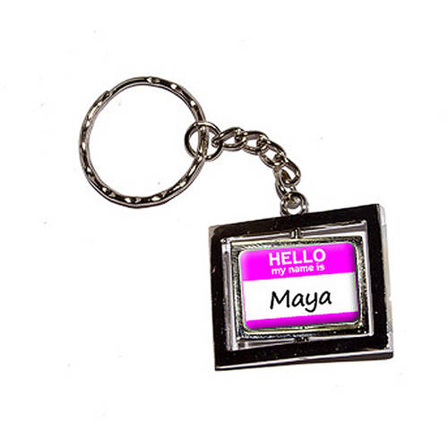 Hello My Name Is Maya New Keychain Ring